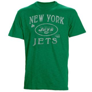 47 Brand New York Jets St. Patricks Day Scrum Premium T Shirt   Kelly Green