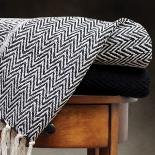 100 percent Cotton Chevron Print and Solid Throw Blankets (Pack of 2