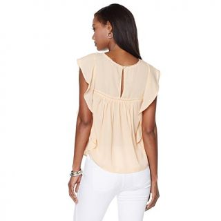 "Jessica Simpson ""Kala"" Embroidered Flowy Top   8001569"