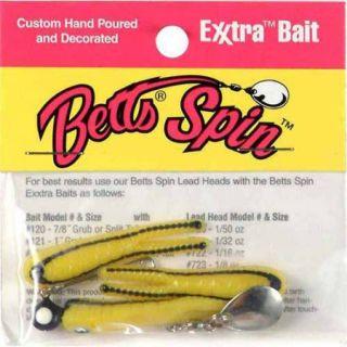 Betts Spin Bait Split Tail, Yellow Black Stripe