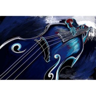 Maxwell Dickson 'Bass Player' Painting Print on Wrapped Canvas