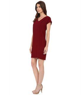 Kut From The Kloth Cara V Neck Dress Burgundy, Burgundy