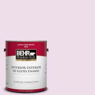 BEHR Premium Plus 1 gal. #680C 2 Wing Flutter Hi Gloss Enamel Interior/Exterior Paint 805001