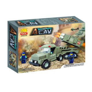 Fun Blocks Military Apache Helicopter 5 in 1 Brick Set (387 pieces)