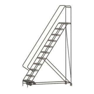 "TRI ARC 11 Step Rolling Ladder, Ribbed Step Tread, 142"" Overall Height, 350 lb. Load Capacity   25NY68