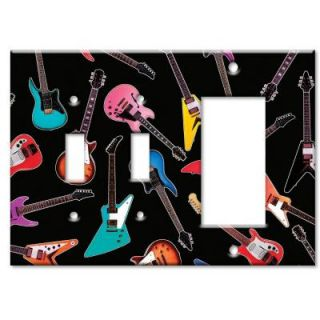 Art Plates Electric Guitars 2 Switch/Rocker Combo Wall Plate SSR 95   Mobile
