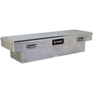 Aluminum Crossbed Truck Box — Single-Lid Standard Style, 51in. x 61 1/2in. x 8 1/2in. x 13in. x 20in.  Crossbed Boxes