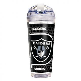 Officially Licensed NFL Double Wall Acrylic 24 oz. Travel Tumbler   Oakland Rai   7797161