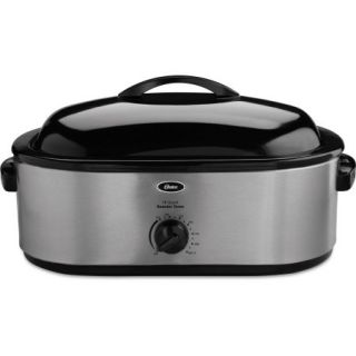 Oster 22 Pound Roaster Oven with Removable 3 Bin Buffet Server, 18 Quart, Stainless Steel