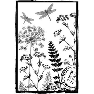 Crafty Individuals Unmounted Rubber Stamp 4.75 X7 Pkg   Birds On A