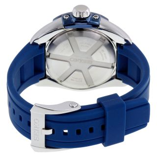 Seiko Velatura Kinetic Blue Dial Blue Rubber Mens Watch SNP103 img3