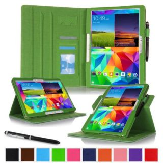 """rooCASE Samsung Galaxy Tab S 10.5 Case   Dual View Multi Angle Stand 10.5 Inch 10.5"""" Tablet Cover   GREEN (With Auto Wake / Sleep Smart Cover)"""