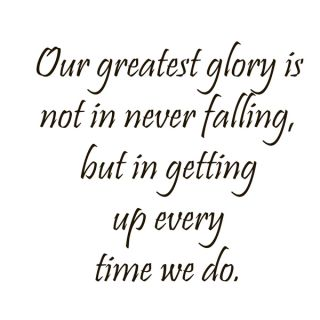 Getting Up After Falling Quote Vinyl Wall Art   16252092