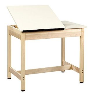 SHAIN Drafting Table 30H x 36W x 24D Solid Maple