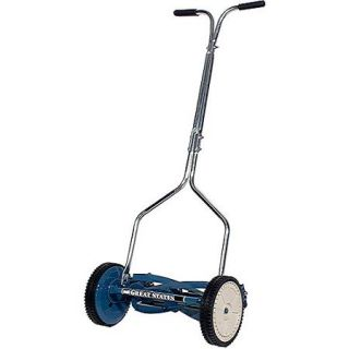 """Great States 204 14 14"""" Deluxe Hand Reel Push Lawn Mower"""