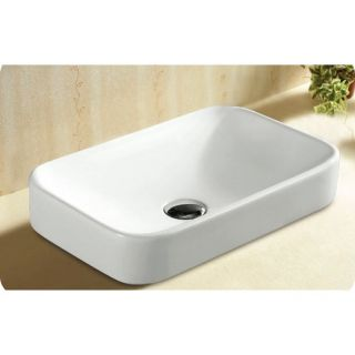 Caracalla by Nameeks CaracallaCA4120A Ceramica No Hole Rectangular Self Rimming Bathroom Sink in White