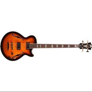 D'Angelico EX BASS Semi Hollowbody Electric Bass Guitar (Vintage Sunburst)