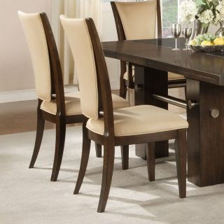 Alpine Furniture 272 23S Beverly Set of 2 Side Chair in Earth Tone with Microfiber Back