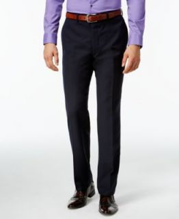 Bar III Navy Solid Extra Slim Fit Pants   Suits & Suit Separates   Men