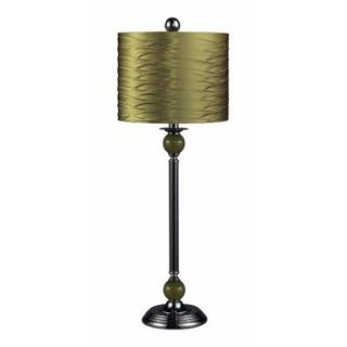 Dimond Lighting Carrington Metal Buffet Lamp w/ Pleated Shade   Green