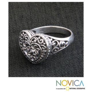 Sterling Silver Loyal Heart Ring (Indonesia)   15326465