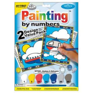 """My First Paint By Number Kit 8 3/4""""X11 3/8"""" 2/Pkg Airplane & Helicopter"""