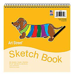 Pacon Art Street Sketch Book 9 x 9  40 Sheets White