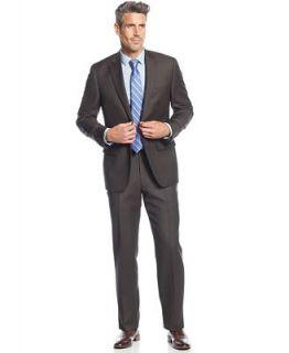 Tasso Elba Brown Nailhead Suit   Suits & Suit Separates   Men