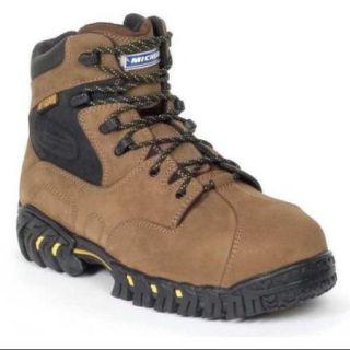 Michelin Size 12 Steel Toe Work Boots, Men's, Brown, M, XPX763