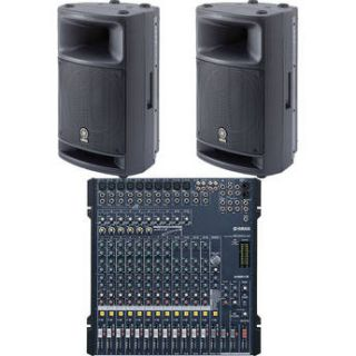 Yamaha Mixing Console & Pro Audio MG166CX/MSR400 BUNDLE