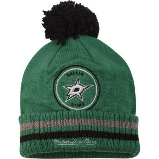 Dallas Stars Mitchell & Ness Big Man Hi Five Cuffed Knit Hat   Kelly Green