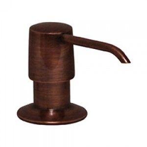 Whitehaus WHSD125 ACO Solid brass soap/lotion dispenser   Antique Copper
