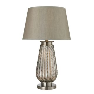 Dimond Lighting D2438 Moro 1 Light Table Lamp in Smoked Glass Brushed Steel