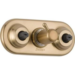 Delta Jetted Module Body Spray/Body Jet Diverter Trim in Champagne Bronze featuring H2Okinetic T18037 CZ