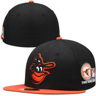 New Era Baltimore Orioles 1970 World Series Side Patch 59FIFTY Fitted Hat   Black/Orange