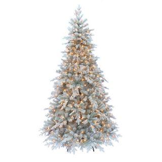 Kurt Adler 7 foot Pre lit Frosted Pine Tree   16717899
