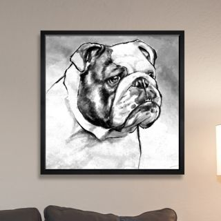 English Bulldog by Hatcher and Ethan Framed Painting Print by The Art