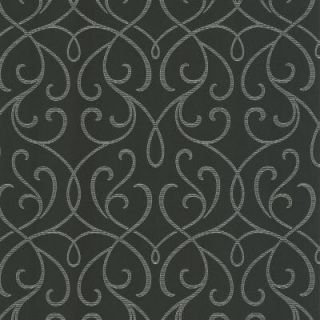56 sq. ft. Alouette Charcoal Mod Swirl Wallpaper DL30448