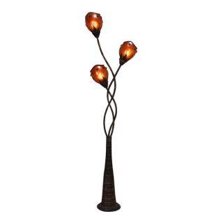 Metal and Abaca Decorative Floor Lamp   17180374