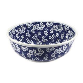 Legion Furniture ZA 224 Blue White Porcelain Floral Sink Bowl
