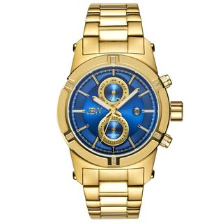 JBW Mens 18k Goldplated Multifunction Diamond Watch   16476787