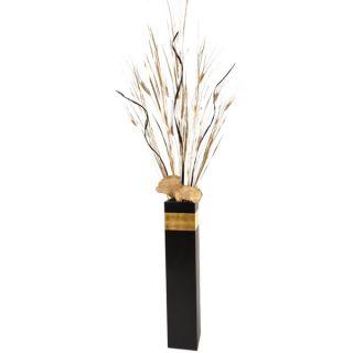 Art Deco Black Floor Vase and Palms Arrangement   16986155