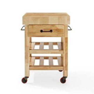 Crosley Marston Butcher Block Kitchen Cart in Natural CF3007 NA