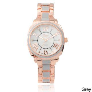 Geneva Platinum Womens Stainless Steel Link Watch   16100773