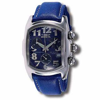 Invicta Mens Lupah Blue Chronograph Watch   924704