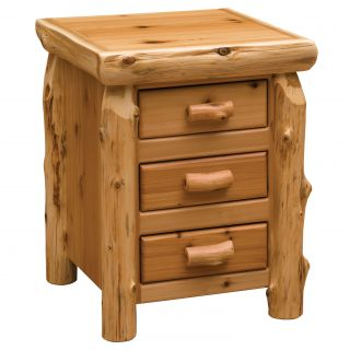 Fireside Lodge Cedar 3 Drawer Nightstand