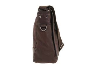 Kenneth Cole Reaction Busi Mess Essentials   Single Gusset Flapover Messenger Bag Brown