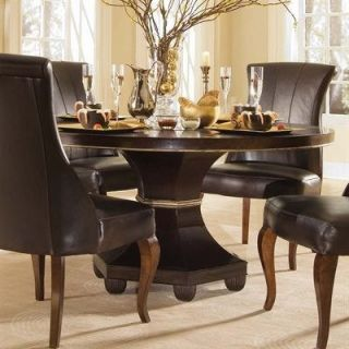 American Drew 591 701R Bob Mackie Home Signature 60 Feather Round Table in Rosewood