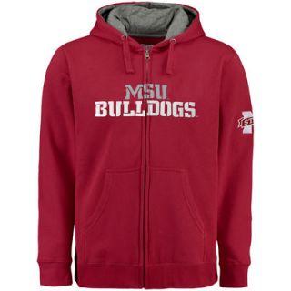 Mississippi State Bulldogs Big & Tall Graham Full Zip Hoodie   Maroon