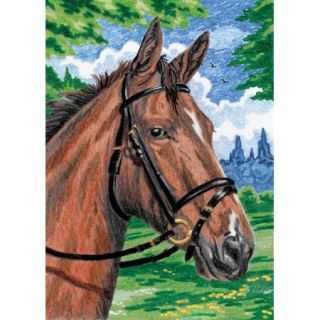 Royal & Langnickel Mini Colour Pencil By Number Kit: 5x7 Horse Multi Colored
